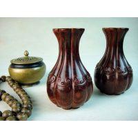 供应印度小叶紫檀雕件古典观音莲花净瓶器皿E941花瓶花插工艺品
