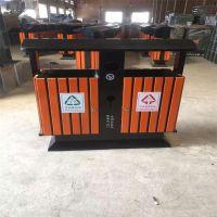 河北绿美生产室外垃圾桶 钢木垃圾桶 公园环保分类垃圾箱厂家批发