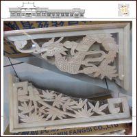 厂家定制用樟木雕刻中式建筑装饰构件角花、花牙子