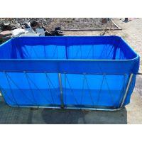 篷布无气味水池图片 帆布鱼池水池价格 易折叠活动水产业鱼池三防产业用布农业
