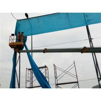 蓝色高强度聚酯纤维阻燃防风网现货批发联系闫经理