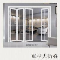 重型铝合金折叠门带地轨造价【款式】图片厂家直销