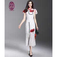 供应:礼服定制 高端旗袍,定做加工,航龙服饰 中式唐装 富春山.布拉家 量身定制