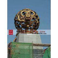 广场雕塑铸铜镂空球定制 锻铜镂空球制作 不锈钢雕塑球摆件 唐县恒林雕塑厂