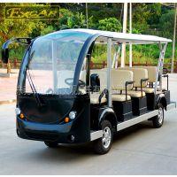 卓越G1S14白色旅游观光车四轮电动车景区游览车看房接待车