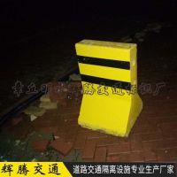 水泥隔离墩济聊城厂家直供高80施工路段用黄黑色隔离墩 量大从优