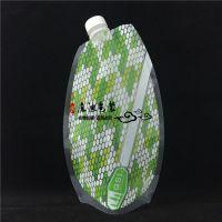 西安专业定做异形袋 透明异形饮料吸嘴袋 1L装塑料复合包装袋
