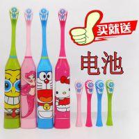 新款儿童电动牙刷全自动超声波家用震动创意卡通全身防水电动牙刷