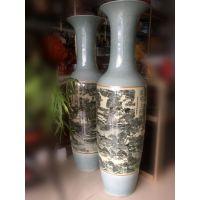 西安冰裂纹仿古大花瓶 清明上河图陶瓷花瓶 乔迁志喜摆件工艺品推荐