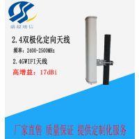 2.4G定向扇区天线 板状天线高增益17DB 双极化N-K母头
