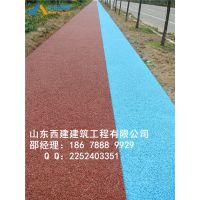 郑州交地彩色透水路面-金水区彩色透水混凝土做法