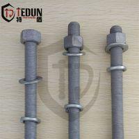 特盾供应 热镀锌通丝螺栓 热镀锌穿墙螺栓 丝杆永年厂家