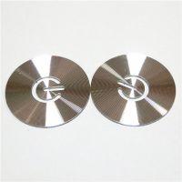 玖玖五金供应CD纹铝片 CD纹加工 高光倒边氧化CD纹铭牌定制