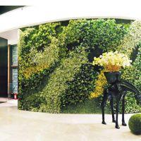 仿真植物墙绿化墙体加密绿植室内背景墙仿真草坪杂草叶子墙批发