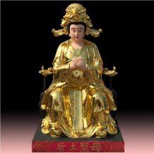 玻璃钢雕塑厂 王母娘娘佛像,彩绘西王母,贴金瑶池金母神像1.8米