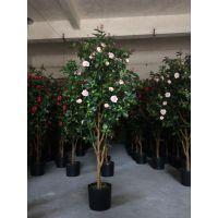 仿真玫瑰小树 仿真玫瑰盆栽 玫瑰假树绿植
