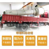 增强聚丙烯吸收塔 PP洗涤喷淋塔 化工工业废气净化吸收塔酸雾净化塔
