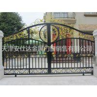 天津和平区铁艺大门安装,天津定制铁艺围栏做工精细