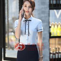 韩版飘带领女衬衫 女式衬衫定制 工作服衬衫 北京衬衫 环诚制衣