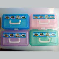 透明PVC塑料671多功能工具箱 美术 零件 收纳盒 美甲箱