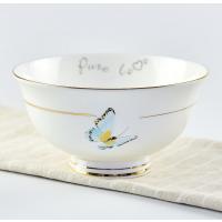 唐山唯奥陶瓷 厂家直销骨瓷米饭碗 加工定制陶瓷餐具套装 创意碗盘碟LOGO