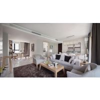 圣丰成套家具 酒店工程样板房定制 现代简约布艺休闲椅 大堂沙发椅