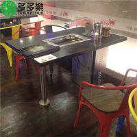 木槿花韩式烧烤桌椅 木槿花烤肉店桌椅供应商