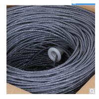 原装超五类网线 非屏蔽 纯铜线芯 高速网线 工程家装专用箱线 灰色 305米