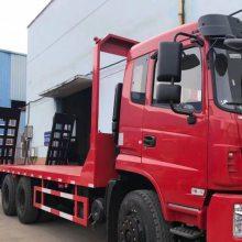250马力东风后双桥挖机拖车 250挖机拖车平板厂家1.8L