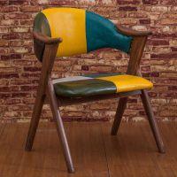 广东众美德订做别墅凳子,包房实木扶手椅烤漆休闲椅家具,酒店餐厅椅子凳子