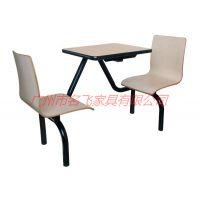 供应张家界食堂桌椅厂家,定制简约现代连体餐桌椅