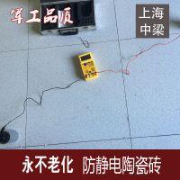 良盾 上海直铺式通体防静电瓷砖,防尘防静电地板