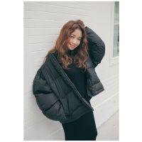 2017新款时尚舒适潮流韩版百搭宽松透气女士外套羽绒服