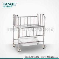 全不锈钢婴儿车 加厚型活护栏不锈钢婴儿车