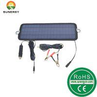 12V4.5W太阳能汽车充电器太阳能车载充电器轮船电瓶电池补电充电器