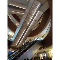 供应商场电梯/人行天桥扶梯两侧装饰包边铝单板