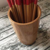 直销竹木餐具竹木筷笼竹筷筒桌面竹制收纳筒竹餐具筒 现货