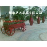 供应进口实木园林花箱,防腐木园林花箱,木制花箱,花盆,户外花箱