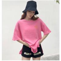 爆款纯棉短袖T恤女韩版女装宽松大码印花女士T恤打底衫女式体恤潮女T恤批发