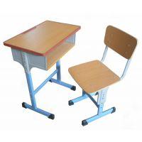 供应河南郑州文学士学生实木升降课桌椅
