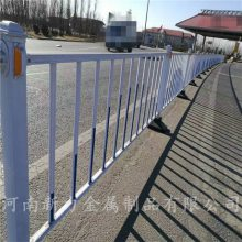 现货可定制 道路锌钢护栏 小区安全钢材二横杠隔离栏市政护栏河南新力
