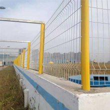 桃型柱护栏网生产 高铁护栏网 隔离铁丝网规格