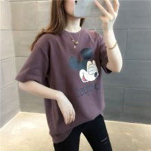 2018夏季韩版新款外贸女t恤打底衫 地摊货源女装短袖t恤便宜批发
