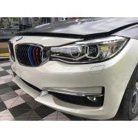 石家庄汽车贴膜改色,宝马三系GT装贴3M电光灰改色膜