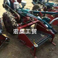 生产销售全自动土豆收获机 小型手扶土豆收货机