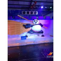 石嘴山_冰雕熊猫租赁,熊猫这个造型会帅翻你