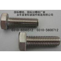 普通螺丝 | 国标30螺栓 | 镀锌4.8级六角螺栓