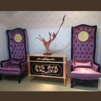 工厂直销欧式高背形象椅实木沙发椅娱乐会所酒店装饰椅定制