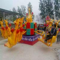 荆州大型游乐场欢乐袋鼠跳儿童设备六臂十二座音乐彩灯玩具自控升降座椅