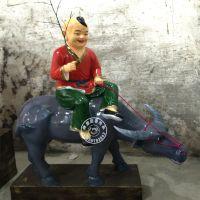 供应道教玻璃钢菩萨神仙,彩绘看牛大王神像。
